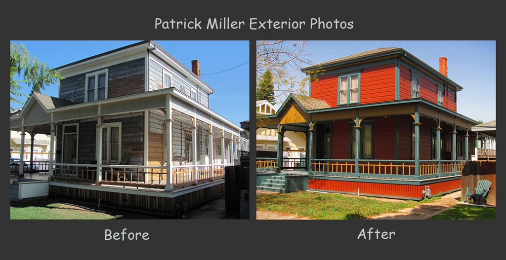 Patrick miller painting long beach house painting for Miller exterior paint